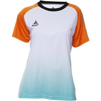 Îmbracaminte Femei Tricouri mânecă scurtă Select T-shirt femme  Player Femina orange/blanc/vert