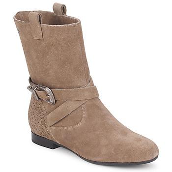 Pantofi Femei Ghete Couleur Pourpre TAMA Taupe