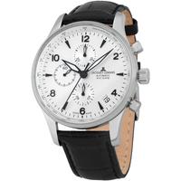Ceasuri & Bijuterii Bărbați Ceasuri Analogice Jacques Lemans 1-1935E, Automatic, 44mm, 10ATM Argintiu