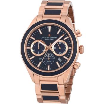 Ceasuri & Bijuterii Bărbați Ceasuri Analogice Jacques Lemans 1-2115H, Quartz, 44mm, 10ATM Auriu