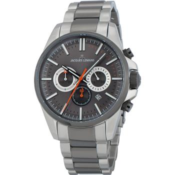 Ceasuri & Bijuterii Bărbați Ceasuri Analogice Jacques Lemans 1-2119E, Quartz, 44mm, 10ATM Argintiu