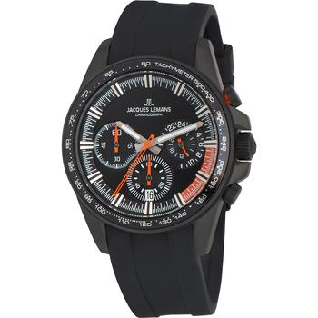 Ceasuri & Bijuterii Bărbați Ceasuri Analogice Jacques Lemans 1-2127D, Quartz, 40mm, 10ATM Negru