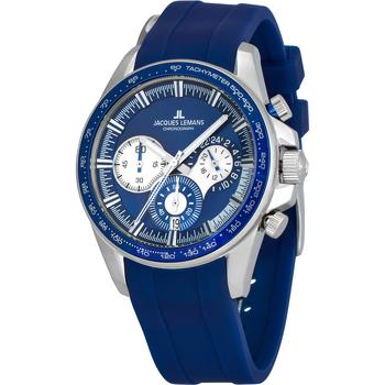 Ceasuri & Bijuterii Bărbați Ceasuri Analogice Jacques Lemans 1-2127B, Quartz, 40mm, 10ATM Argintiu
