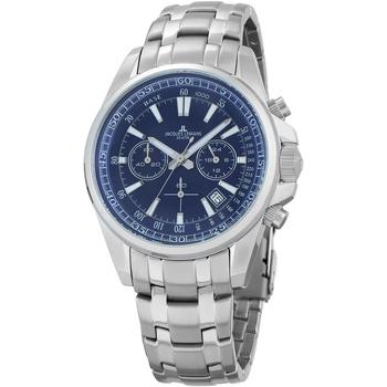 Ceasuri & Bijuterii Bărbați Ceasuri Analogice Jacques Lemans 1-2117K, Quartz, 44mm, 20ATM Argintiu