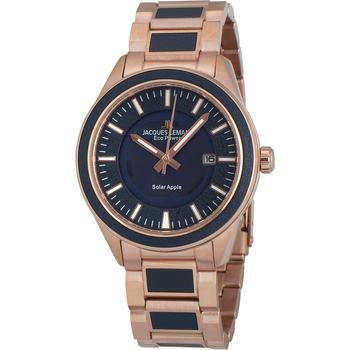 Ceasuri & Bijuterii Bărbați Ceasuri Analogice Jacques Lemans 1-2116F, Quartz, 40mm, 10ATM Auriu