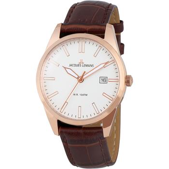 Ceasuri & Bijuterii Bărbați Ceasuri Analogice Jacques Lemans 1-2002P, Quartz, 40mm, 10ATM Auriu