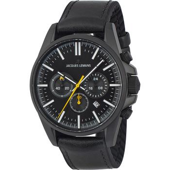Ceasuri & Bijuterii Bărbați Ceasuri Analogice Jacques Lemans 1-2119B, Quartz, 44mm, 10ATM Negru