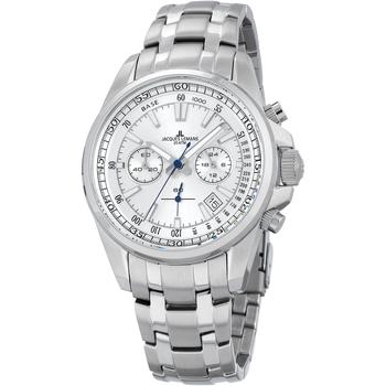 Ceasuri & Bijuterii Bărbați Ceasuri Analogice Jacques Lemans 1-2117J, Quartz, 44mm, 20ATM Argintiu