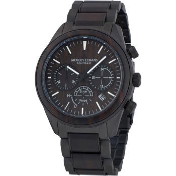 Ceasuri & Bijuterii Bărbați Ceasuri Analogice Jacques Lemans 1-2115M, Quartz, 44mm, 10ATM Negru