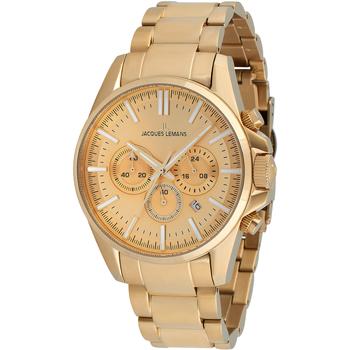 Ceasuri & Bijuterii Bărbați Ceasuri Analogice Jacques Lemans 1-2119I, Quartz, 44mm, 10ATM Auriu