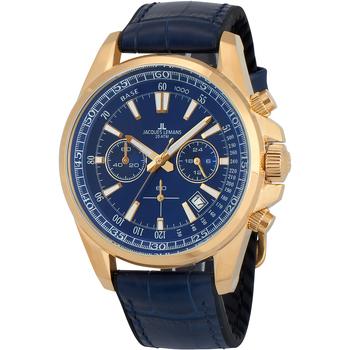 Ceasuri & Bijuterii Bărbați Ceasuri Analogice Jacques Lemans 1-2117G, Quartz, 44mm, 20ATM Auriu
