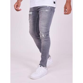 Îmbracaminte Bărbați Pantaloni  Project X Paris Pantalon Jeans Slim effet usé gris foncé