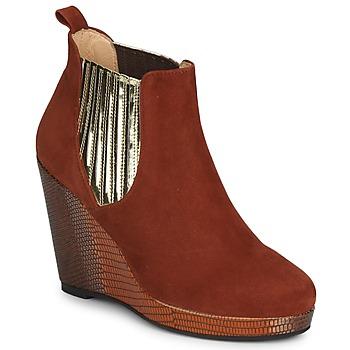 Pantofi Femei Botine MySuelly LEON Maro ruginiu / Auriu