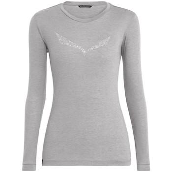 Îmbracaminte Femei Tricouri cu mânecă lungă  Salewa Solidlogo Dry W L/S Tee 27341-0624 grey