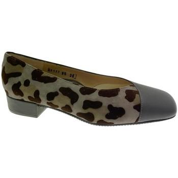Pantofi Femei Balerin și Balerini cu curea Calzaturificio Loren LOA1117 grigio