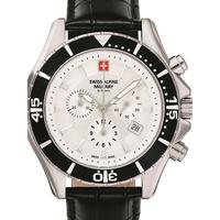 Ceasuri & Bijuterii Bărbați Ceasuri Analogice Swiss Alpine Military 7040.9532, Quartz, 44mm, 10ATM Argintiu