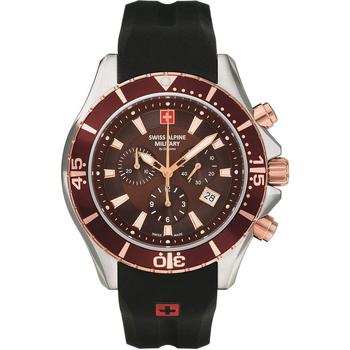 Ceasuri & Bijuterii Bărbați Ceasuri Analogice Swiss Alpine Military 7040.9856, Quartz, 44mm, 10ATM Argintiu
