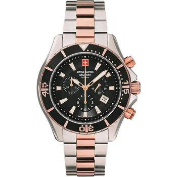 Ceasuri & Bijuterii Bărbați Ceasuri Analogice Swiss Alpine Military 7040.9157, Quartz, 44mm, 10ATM Argintiu