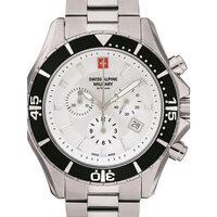 Ceasuri & Bijuterii Bărbați Ceasuri Analogice Swiss Alpine Military 7040.9132, Quartz, 44mm, 10ATM Argintiu