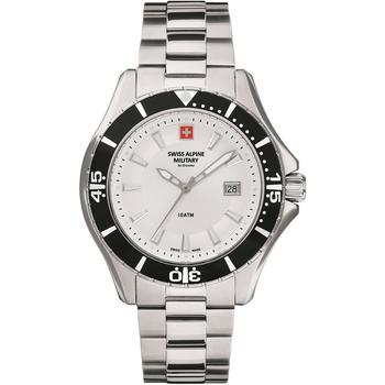 Ceasuri & Bijuterii Bărbați Ceasuri Analogice Swiss Alpine Military 7040.1132, Quartz, 44mm, 10ATM Argintiu