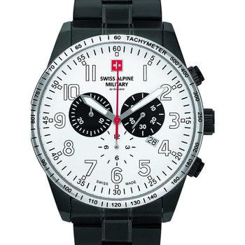 Ceasuri & Bijuterii Bărbați Ceasuri Analogice Swiss Alpine Military 7082.9173, Quartz, 45mm, 10ATM Negru