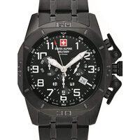 Ceasuri & Bijuterii Bărbați Ceasuri Analogice Swiss Alpine Military 7063.9177, Quartz, 45mm, 10ATM Negru