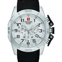 Ceasuri & Bijuterii Bărbați Ceasuri Analogice Swiss Alpine Military 7063.9833, Quartz, 45mm, 10ATM Argintiu