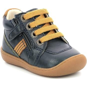 Pantofi Fete Ghete Aster Chaussures fille  Piasap bleu marine/orange clair