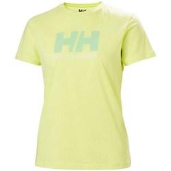 Îmbracaminte Femei Tricouri mânecă scurtă Helly Hansen W Logo Tshirt Verde