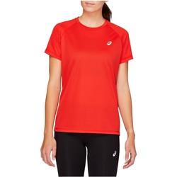 Îmbracaminte Femei Tricouri mânecă scurtă Asics Sport Run Top Rouge