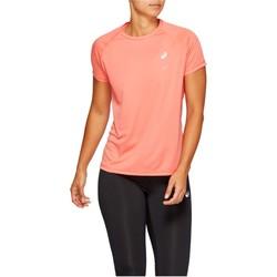 Îmbracaminte Femei Tricouri mânecă scurtă Asics Sport Run Top Orange