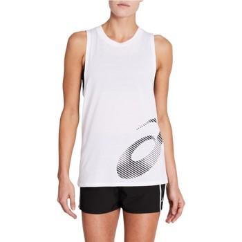 Îmbracaminte Femei Maiouri și Tricouri fără mânecă Asics W Core Graphic Tank Blanc