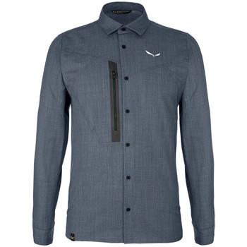 Îmbracaminte Bărbați Cămăsi mânecă lungă Salewa Koszula  Fanes Wool Dry M L/S SRT 27762-3988 grey