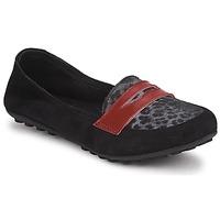 Pantofi Fete Mocasini Mod'8 CELEMOC JUNIOR Negru / Leopard / Roșu