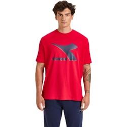Îmbracaminte Bărbați Tricouri mânecă scurtă Diadora Ss Shield Rosu