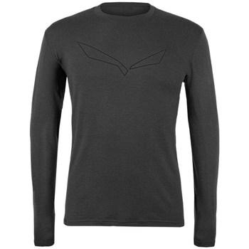Îmbracaminte Bărbați Tricouri cu mânecă lungă  Salewa Pure Logo Merino Responsive Gri