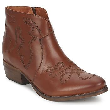 Pantofi Femei Ghete Pastelle JANE Camel
