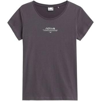 Îmbracaminte Femei Tricouri mânecă scurtă 4F TSD020 Grafit