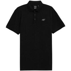 Îmbracaminte Bărbați Tricou Polo mânecă scurtă 4F TSM356 Negre