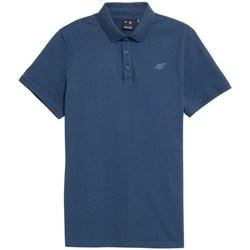 Îmbracaminte Bărbați Tricou Polo mânecă scurtă 4F TSM355 Albastre
