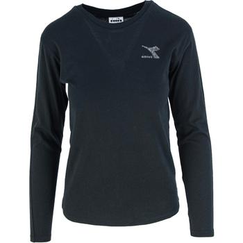 Îmbracaminte Femei Tricouri cu mânecă lungă  Diadora Ls Blink Negru
