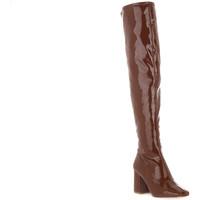 Pantofi Femei Cizme lungi peste genunchi Steve Madden COGNAC JAYME Marrone