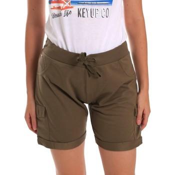 Îmbracaminte Femei Pantaloni scurti și Bermuda Key Up 5G75F 0001 Verde