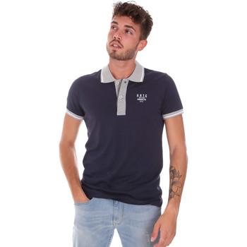 Îmbracaminte Bărbați Tricou Polo mânecă scurtă Key Up 2G87R 0001 Albastru
