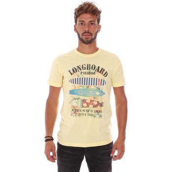 Îmbracaminte Bărbați Tricouri mânecă scurtă Key Up 2D45S 0001 Galben