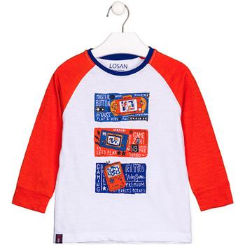 Îmbracaminte Copii Tricouri cu mânecă lungă  Losan 125-1015AL Alb