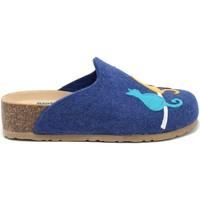 Pantofi Femei Papuci de casă Bionatura 12BLMOO-I-FELB88 Albastru