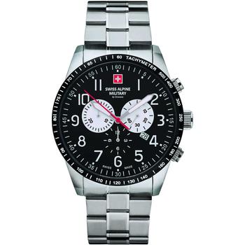 Ceasuri & Bijuterii Bărbați Ceasuri Analogice Swiss Alpine Military  Argintiu