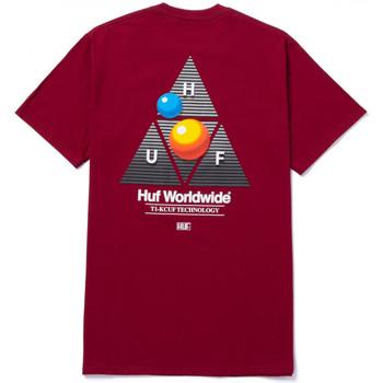 Îmbracaminte Bărbați Tricouri mânecă scurtă Huf T-shirt video format tt ss roșu
