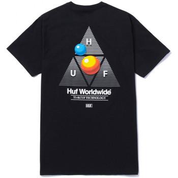 Îmbracaminte Bărbați Tricouri mânecă scurtă Huf T-shirt video format tt ss Negru